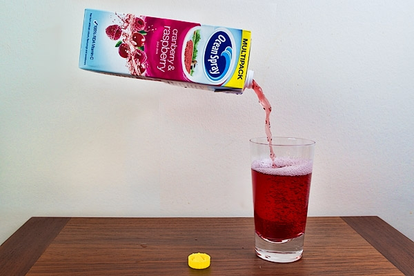 The new self-pouring cranberry juice.  Handy!