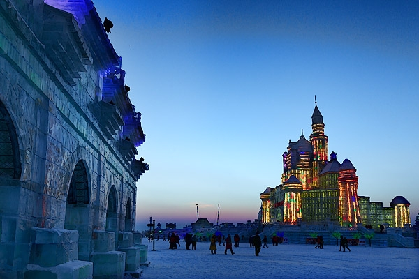 The famous Harbin ice festival!