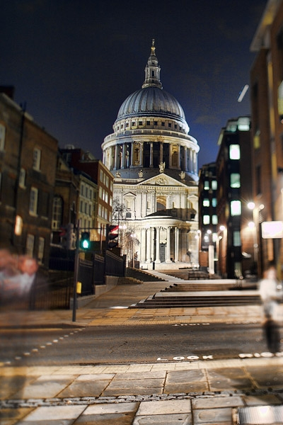 St. Pauls with a tilt shift lens.