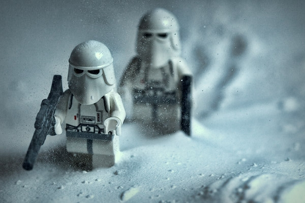 The snowtroopers out on their first patrol.