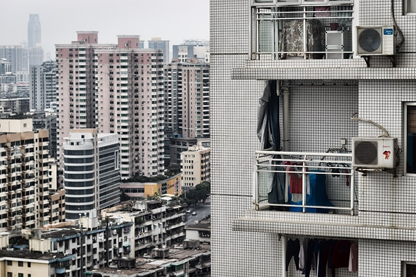 View from my room at our flat.