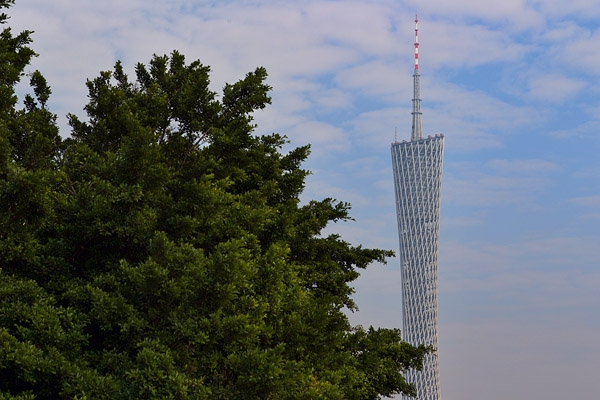 Guangzhou's Canton Tower, on an afternoon out with Danni's friend.