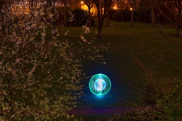 Some light painting in the park.